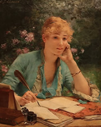 Jules Frederic Ballavoine - Penning a Love Letter
