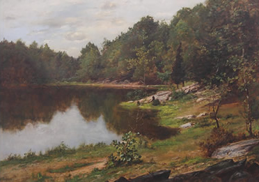 Charles Linford - Landscape with Pond